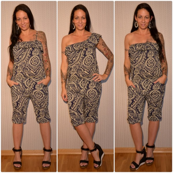 Sommer Jumpsuit / Overall 3 in 1 DUNKELBLAU / CREME