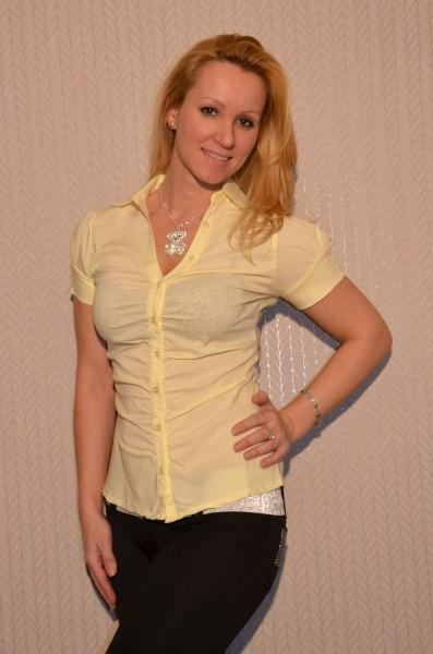 Bluse mit Puffärmeln GELB
