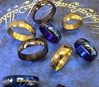 Edelstahl Ring Gold & Schwarz Damen Herren Kinder Stainless Steel Herr Der Ringe Look