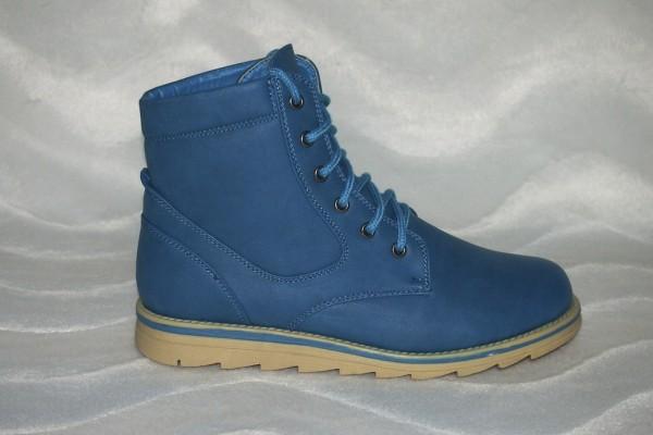 High Cut Schnürschuhe Blau