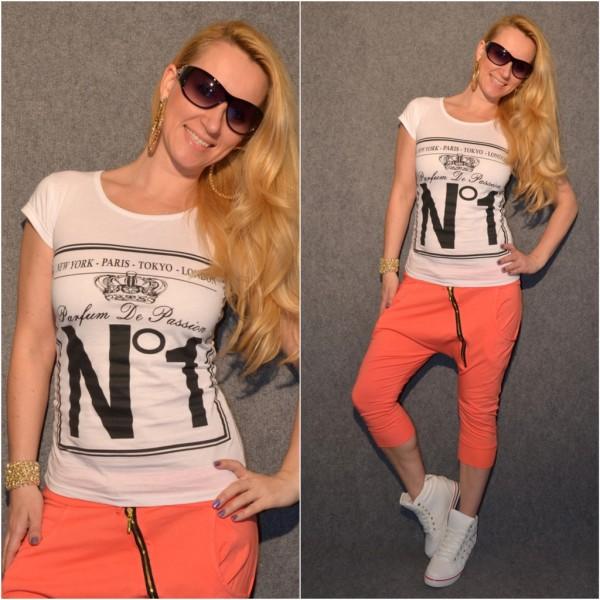 PARFUM De PASSION No1 Baumwoll T-Shirt WEISS