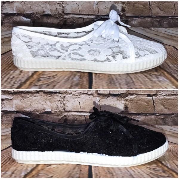 Leichte NETZ / SPITZE Lowcut Sportschuhe / Sneakers