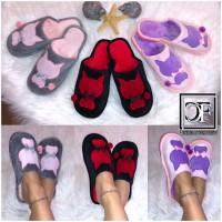 Flauschige KATZE Damen Hausschuhe Schlappen Slippers Plüsch Schuhe CAT Kitten