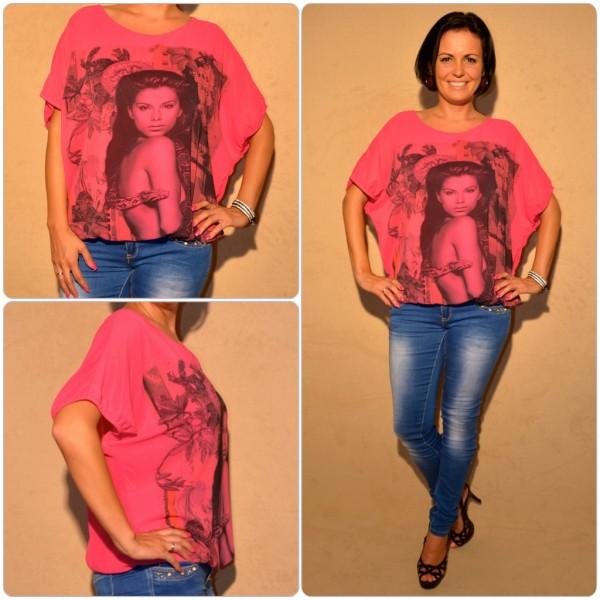 Zweilagige Tunika Modell: SCHLANGEN Lady PINK