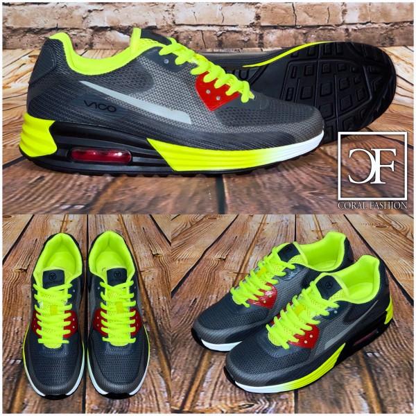 Bequeme New STYLE LUFT Sportschuhe / Sneakers Grau / Grün