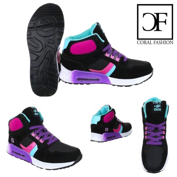 COLOR Highcut LUFT Sportschuhe / Sneakers SCHWARZ