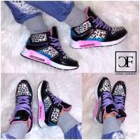 Damen COLOR LEO Highcut AIR Sportschuhe / Sneakers Schwarz Leopard