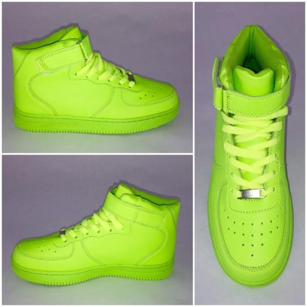 *BIGcut* NEW Style Highcut KLETT Sportschuhe / Sneakers GRÜN