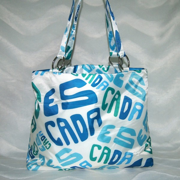 ESCADA Shopper / Strandtasche Weiß/Blau/Grün