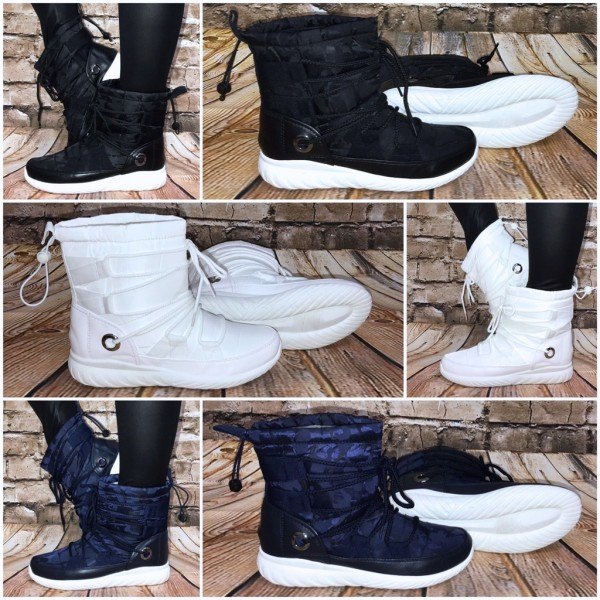 Coole Winter Boots / Stiefeletten zum schnüren mit Kunstfell gefüttert