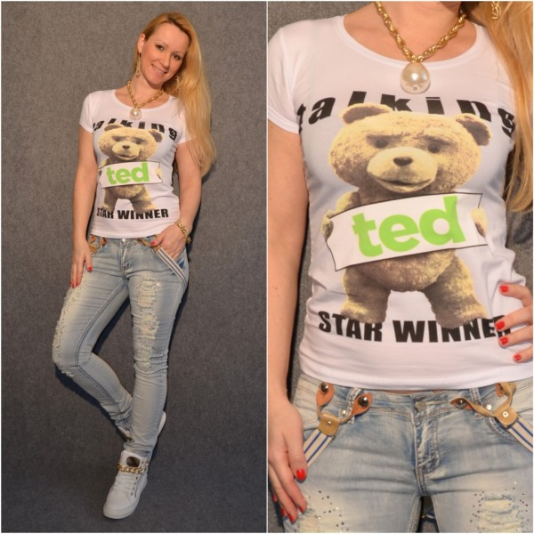 TALKING TED T-Shirt WEISS