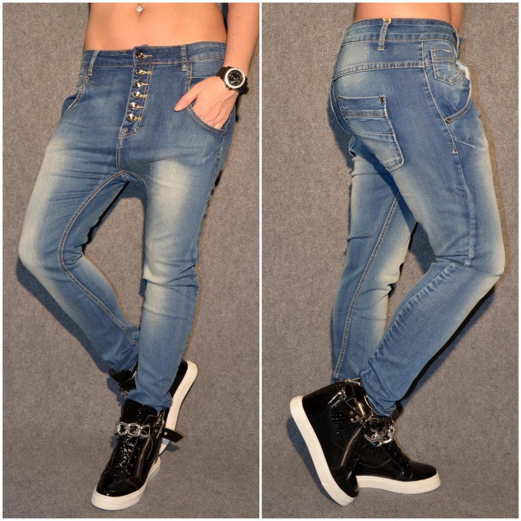 HAREMS stretch JEANS mit Knöpfen BLAU   Jeans   Damenmode   Mode   Coral  Fashion 7a9738fc87