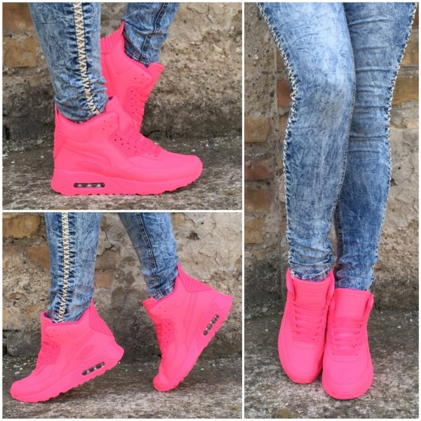 Coole Highcut LUFT Sportschuhe / Sneakers PINK