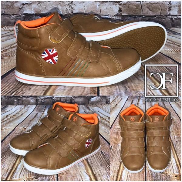 Highcut Klett UK Kunstleder Sportschuhe / Sneakers braun
