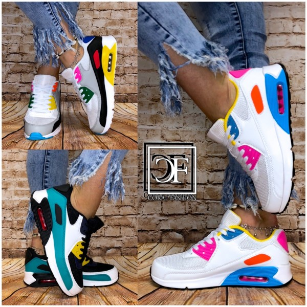 Color MIX Damen Classic LUFT Sportschuhe / Sneakers in 3 Farben