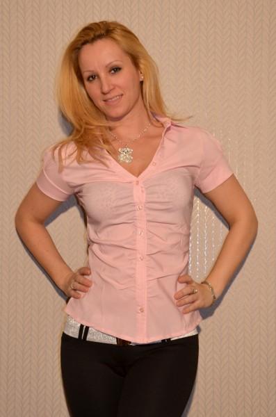Bluse mit Puffärmeln ROSA