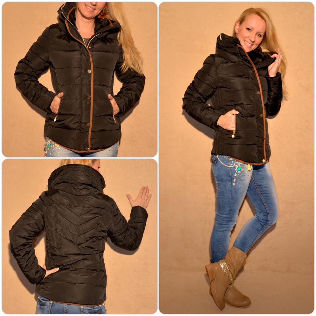 Sportlich elegante winterjacke mit hohem kragen schwarz jacken gilets blazer damenmode - Sportlich elegante mode ...