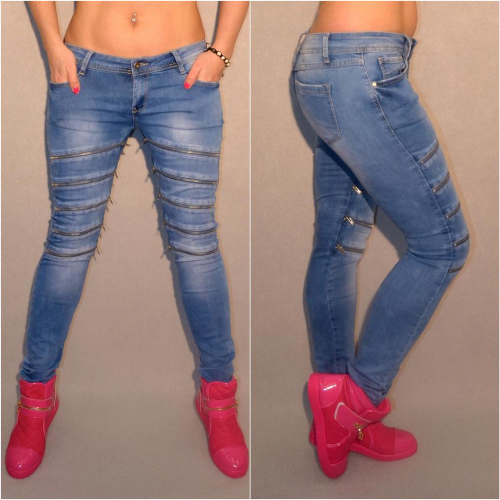 Ausgefallene Stretch JEANS mit mehreren DEKO Zippverschlüssen   Jeans    Damenmode   Mode   Coral Fashion 300243771c