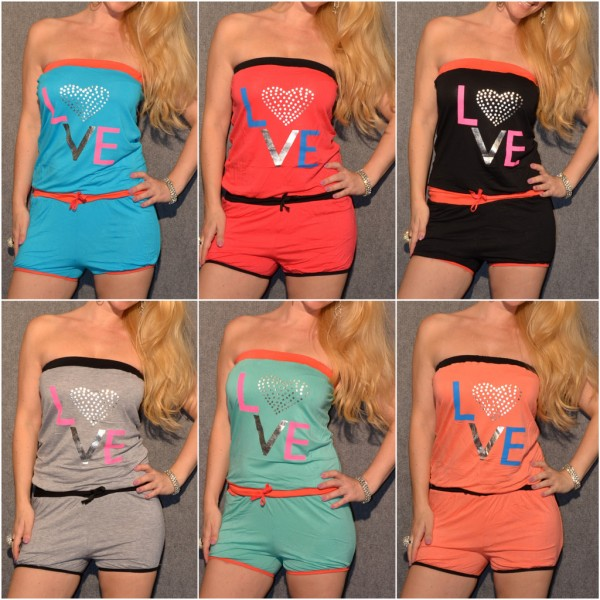 Jersey Bandeau Shorty Overall LOVE