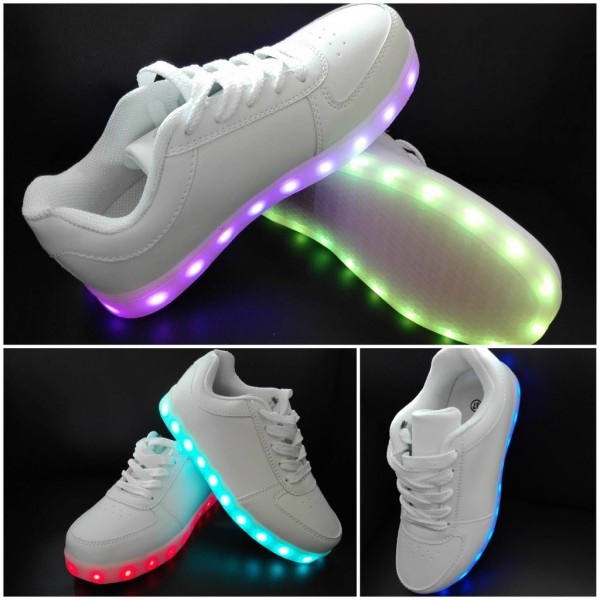 purchase cheap ce156 e9ccd LED LIGHT Farbwechsel LOWcut Sportschuhe / Sneakers / Schuhe WEISS