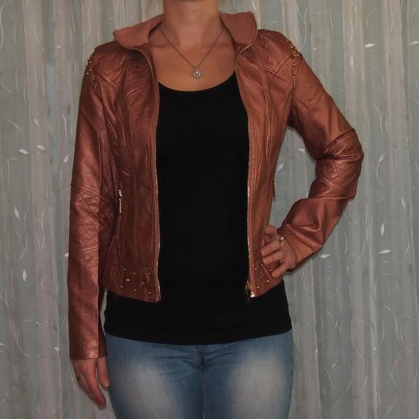 Damen Jacke mit NIETEN PINK Metalic