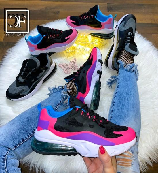 Damen Multi Color Print XXL LUFT Sportschuhe Sneakers in 3 Farben