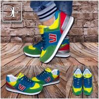 Unisex COLOR Sportschuhe / Sneakers GRÜN / Gelb + 1 GRATIS Schnürsenkel