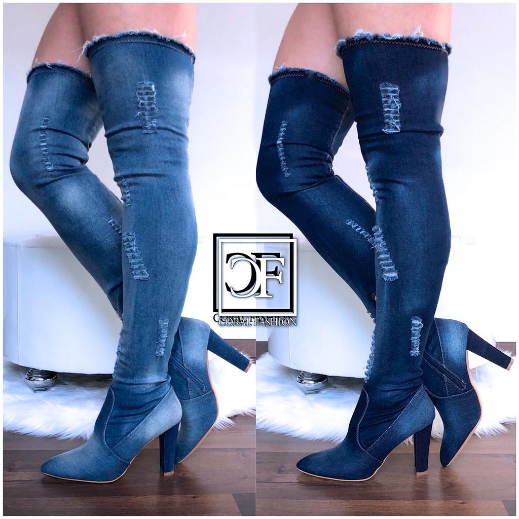 Jeans Overknees