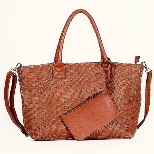 FLORA & CO Paris Handtasche mit Schlüsseltasche WHISKY/TAUPE (9980)