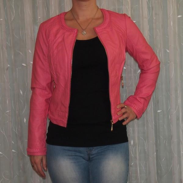 Damen Jacke mit geflochtenen Bordüren ROSA