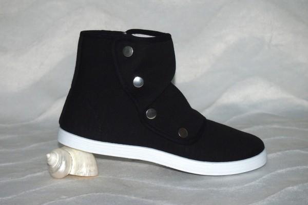 Sneakers mit Druckknöpfen Schwarz